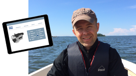 "Patrik Silfver from Wärtsila is the lucky winner of our Marin PRO iPad: ""I was very impressed by the good and fast Marin PRO support."""