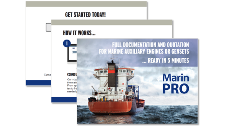 7 clicks & 5 minutes is all it takes to get a documentation & quote for marine auxiliary engines or gensets!